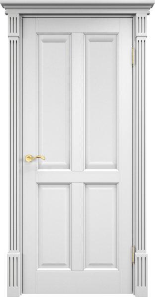 Дверь из массива сосны 15Ш ДГФ белая эмаль