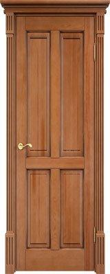 Дверь из массива сосны 15Ш ДГФ орех 10% патина