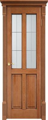 Дверь из массива сосны 15Ш ДОФ орех 10% патина