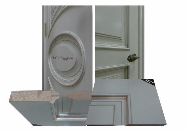 белые двери разрез