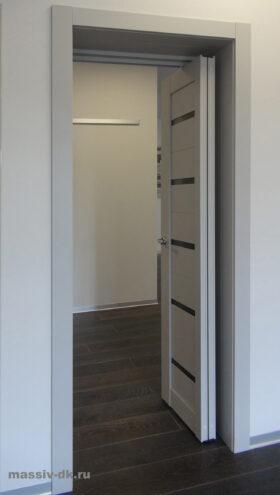 Cистема открывания дверей Книжка. Вид сбоку