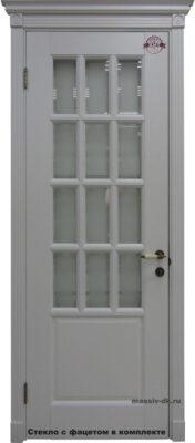 Дверь из массива дуба Лондон белая