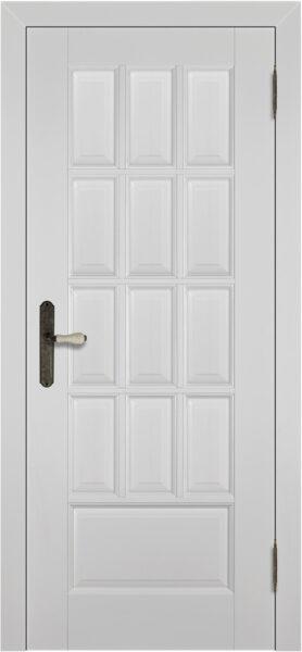 Дверь белая Лондон из массива ольхи