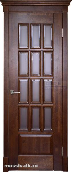 Двери ока массив ольхи Лондон1. Стекло с фацетом