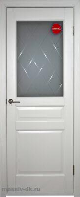 Двери ока массив ольхи эмаль белая