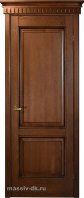 Дверь массив дуба Д13 коньяк патина