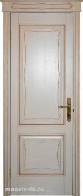 Дверь массив дуба Д 6-2 F-120 патина золото