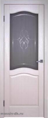 Двери ока массив сосны эмаль Лео ПО крем