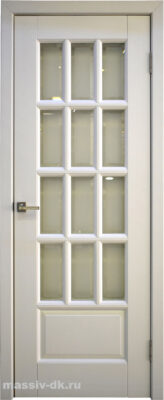 Двери массив ольхи Лондон1 эмаль белая