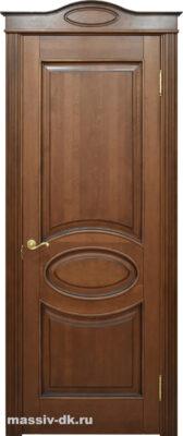 Двери ПМЦ массив ольхи Ол26 коньяк патина орех
