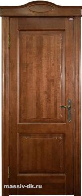 Двери ПМЦ массив ольхи Ол6-2 коньяк