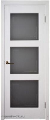 Двери ока массив сосны эмаль Турин ПО белая