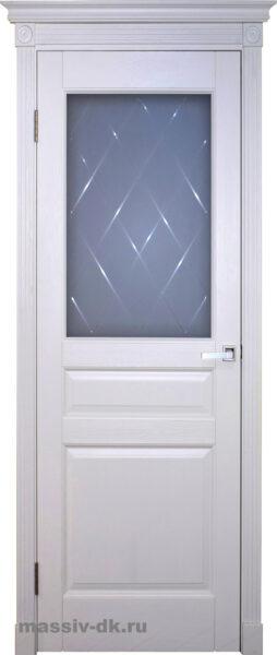 Двери ока массив сосны белая эмаль Валенсия ПО