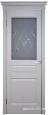 Двери ока массив сосны эмаль Валенсия ПО крем