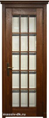 Двери массив дуба Ока Британия орех