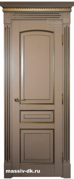 Двери из массива с притвором Элида карамель