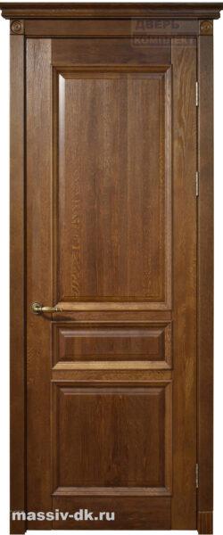 Двери ока массив дуба Аристократ1 цвет орех
