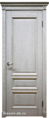 Двери ока массив дуба Аристократ1 цвет вайт