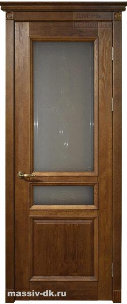 Двери ока массив дуба Аристократ3 орех