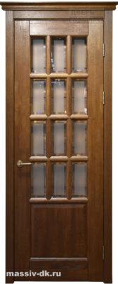 Двери массив дуба Лондон1 орех