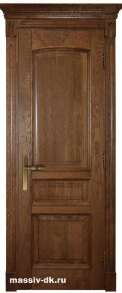 Двери из массива с притвором Аида саванна