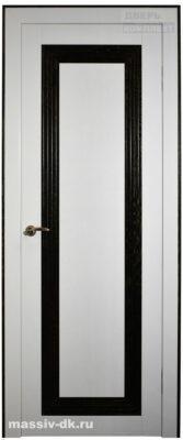 Двери из массива с четвертью Камилия белая