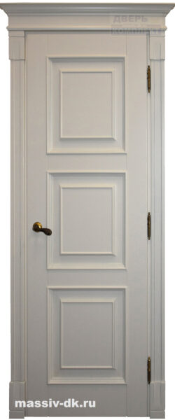 Двери массив с четвертью Милана белая