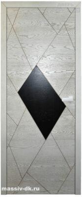 Двери из массива дуба дизайнерские Вариант1