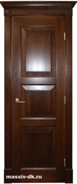 Двери из массива с притвором Вероника миндаль
