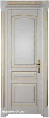 Дверь из массива березы Элида слоновая кость