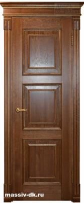 Двери из массива дуба Милана золотой орех