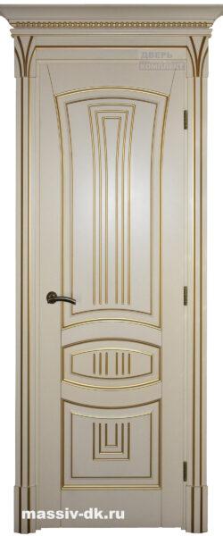 Двери из массива березы Ария золотые сливки
