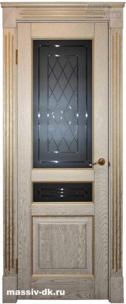 Двери из массива дуба Стефани ПО золотые сливки