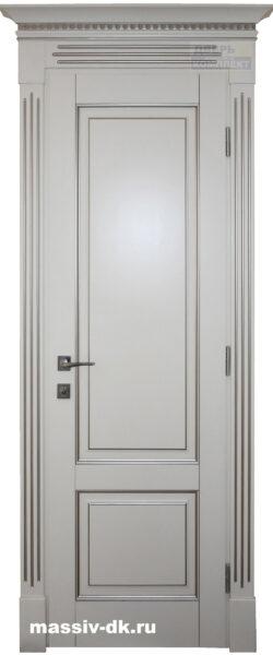 Дверь из массива Альтеса шампань патина серебро