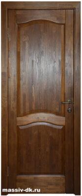 Дверь из массива сосна Лео ПГ античный орех