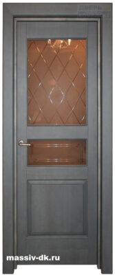 Дверь из массива ольха 5 ПО зеленая