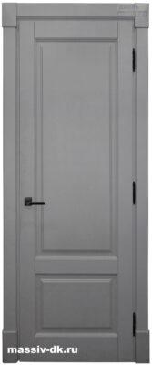 Двери из массива с притвором Альта серая