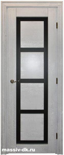 межкомнатные двери из массива Модерн белое серебро