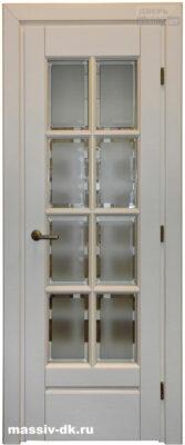 Двери из массива березы Витраж Крем