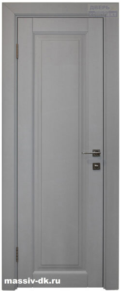 Дверь из массива березы Виолета серая