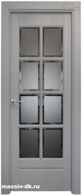 Двери из массива березы Витраж серая