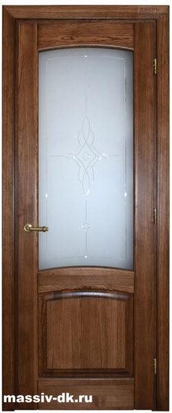 Двери из массива ясеня Элида ПО вишня