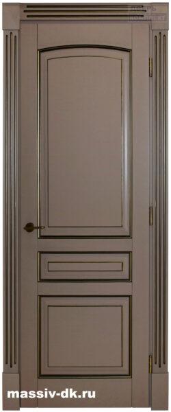 Двери из массива березы Лида карамель