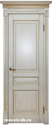 Дверь массив дуба Стефана белое золото