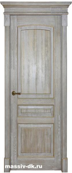 Дверь из массива сосны Лида белое золото
