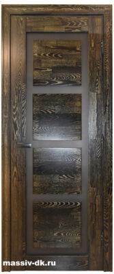 Дверь массив дуба Модерн черное золото
