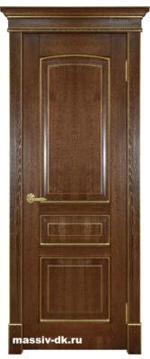 Дверь из массива дуба Аида золотой орех