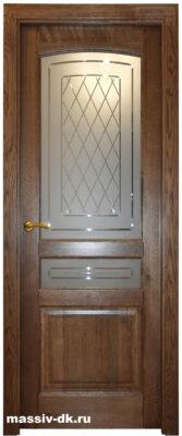 Дверь из массива дуба Лида саванна ПО
