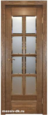 Дверь из массива дуба Витраж саванна